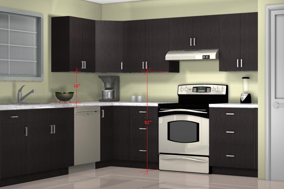 Wall Cabinet Kitchen  What is the optimal kitchen wall cabinet height