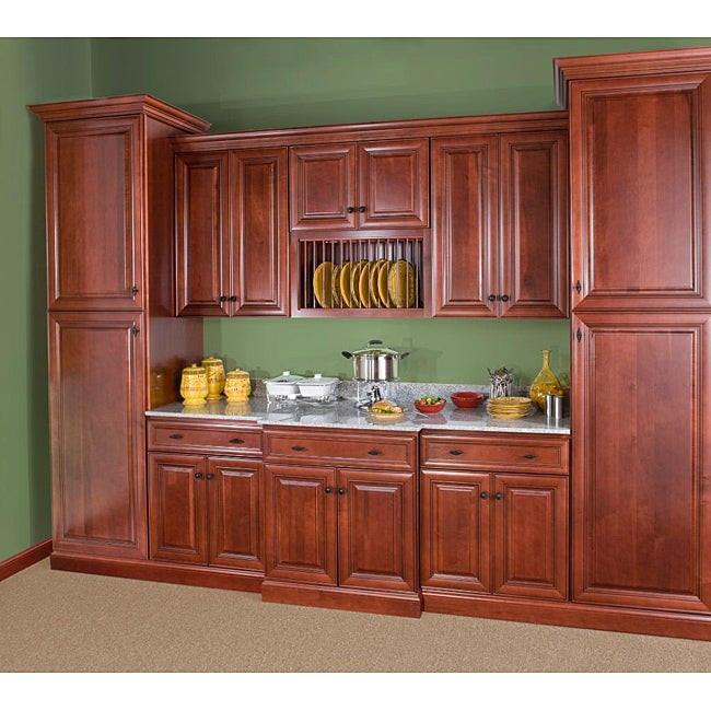 Wall Cabinet Kitchen  Cherry Stain Chocolate Glaze Wall Blind Corner Kitchen