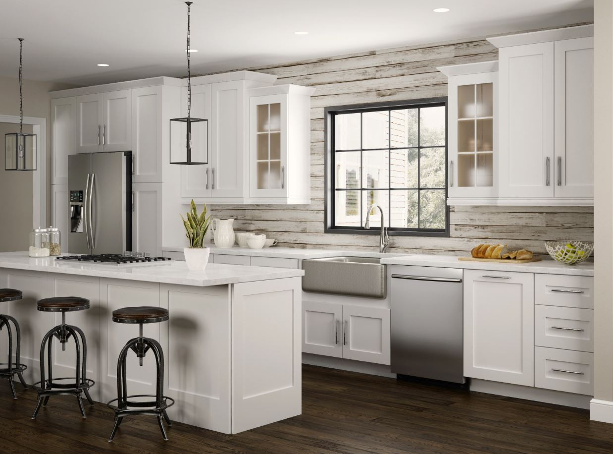 Wall Cabinet Kitchen  Newport Wall Cabinets in Pacific White – Kitchen – The
