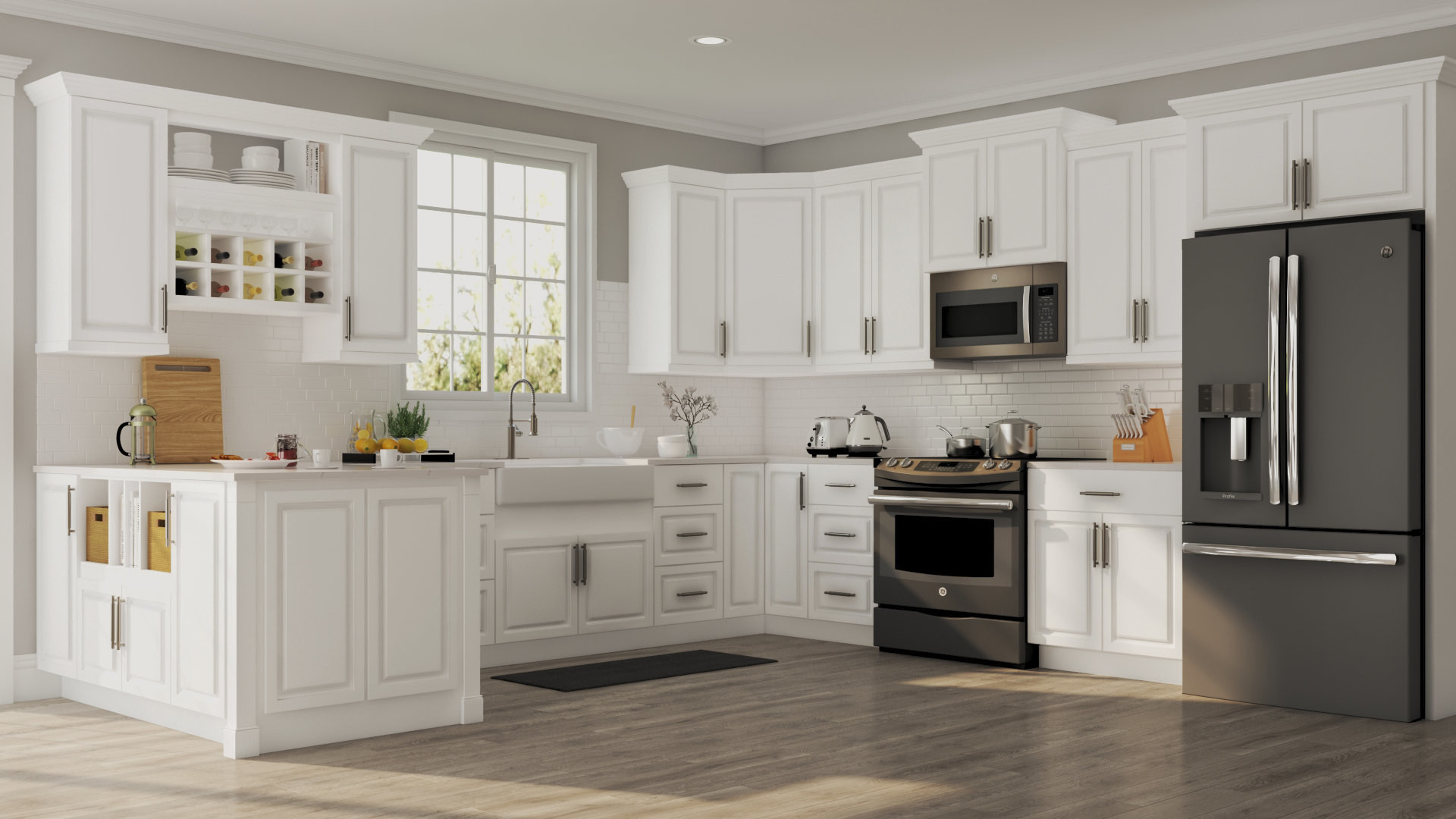 Wall Cabinet Kitchen  Hampton Wall Cabinets in White – Kitchen – The Home Depot