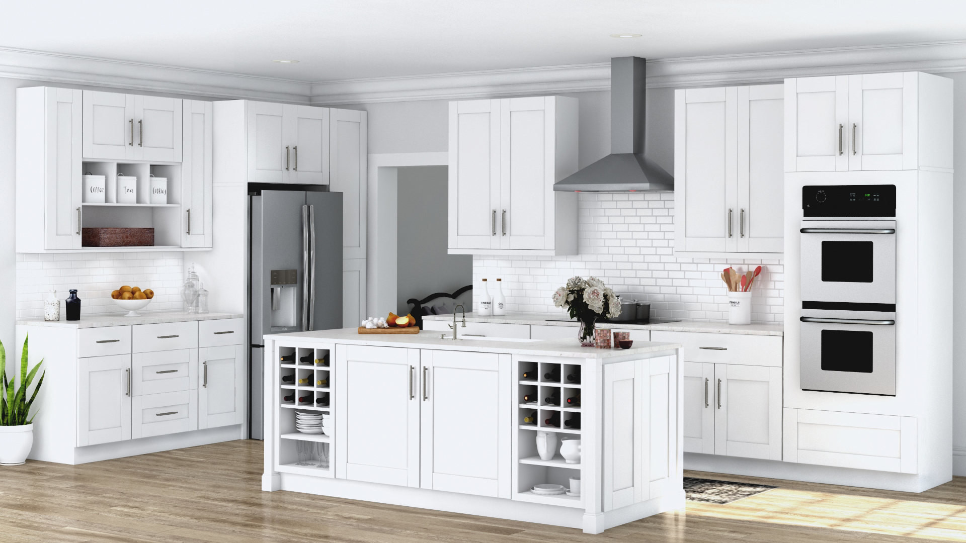 Wall Cabinet Kitchen  Shaker Wall Cabinets in White – Kitchen – The Home Depot