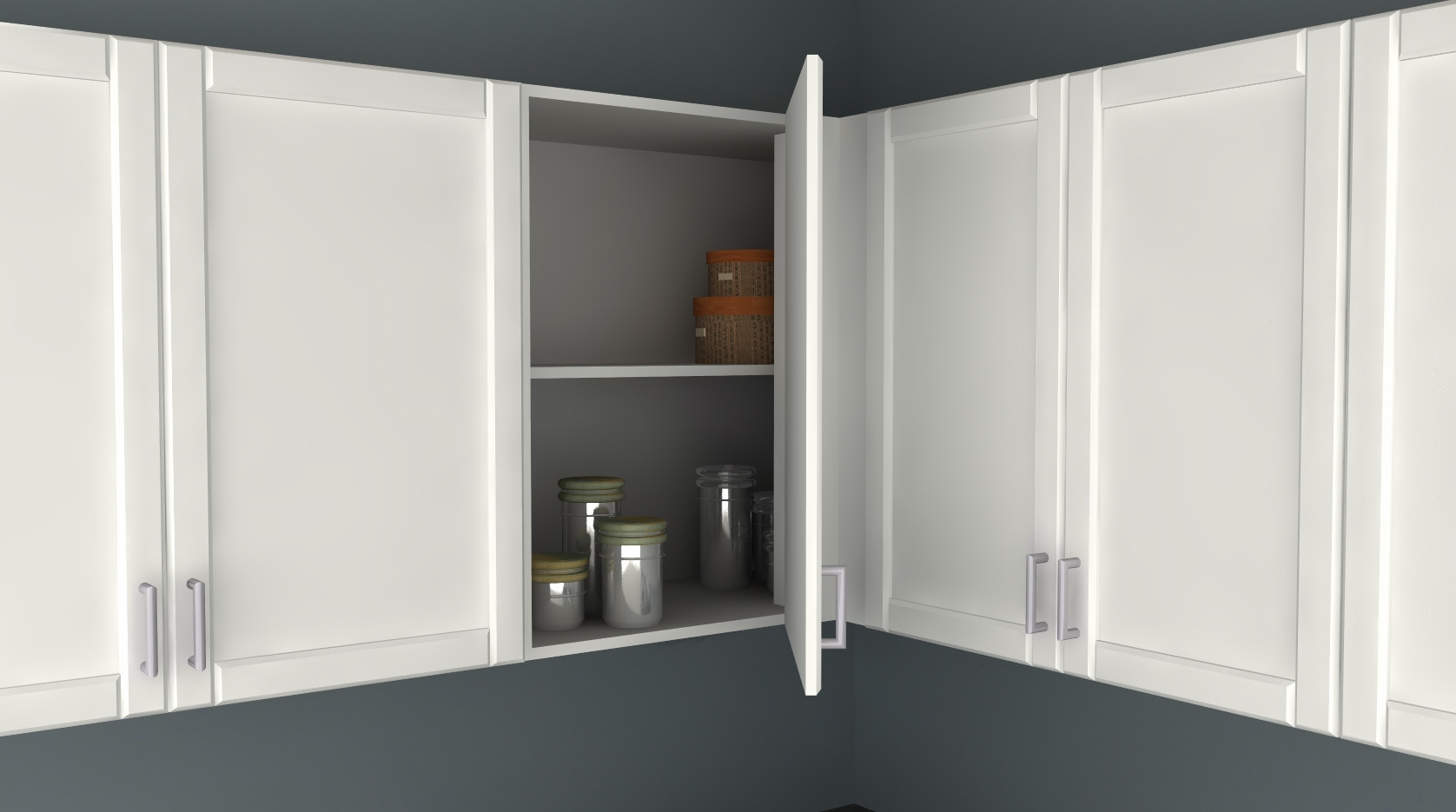Wall Cabinet Kitchen  IKEA Kitchen Hack A Blind Corner Wall Cabinet Perfect for