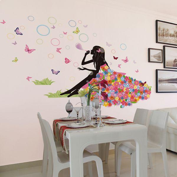 Wall Decals For Girl Bedroom  Elves bubble girl Home Decoration Decals Bedroom