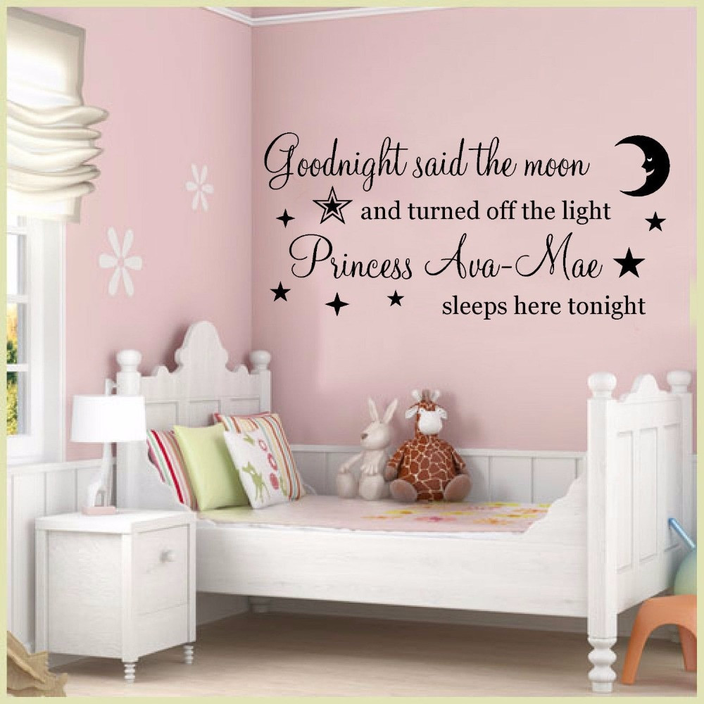 Wall Decals For Girl Bedroom  Girls Room Wall Art Mural Removable Vinyl Wall Decal