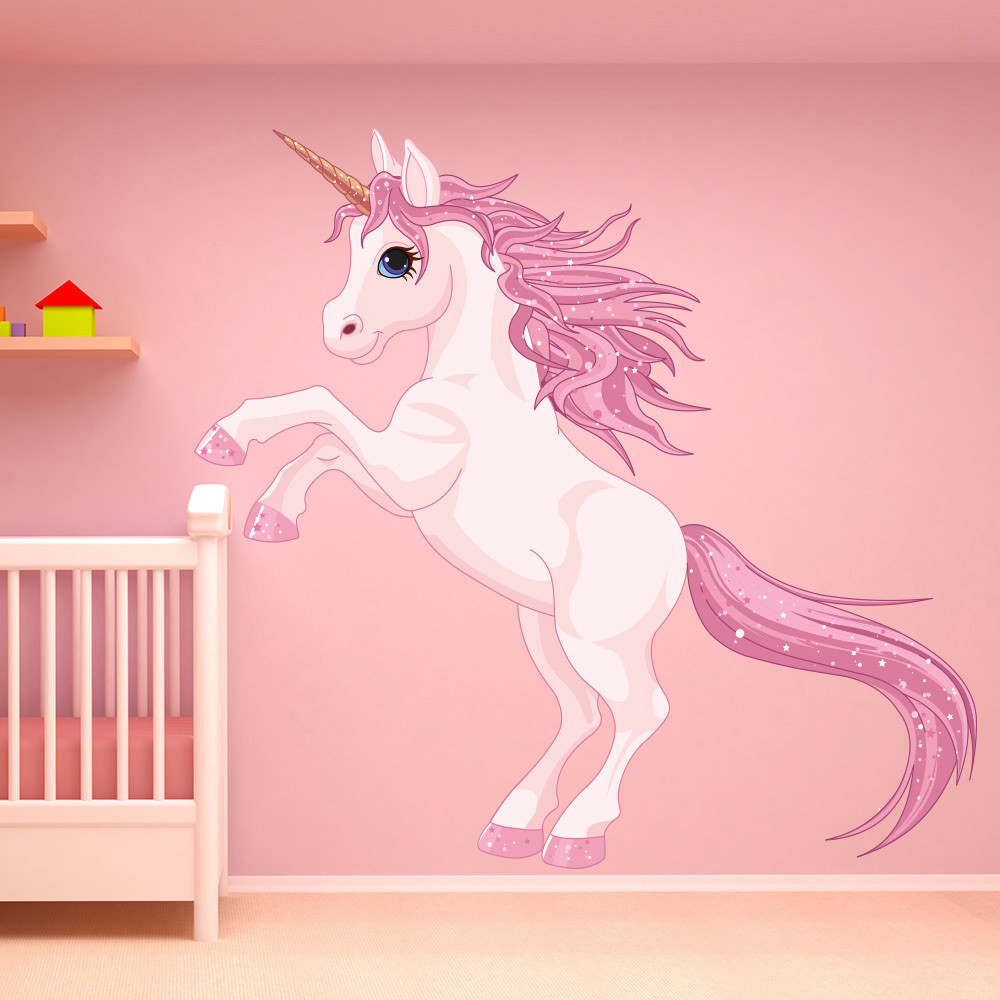 Wall Decals For Girl Bedroom  Unicorn Wall Sticker Fantasy Fairy Tale Wall Decal Girls