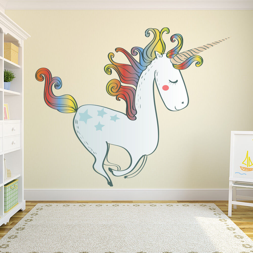 Wall Decals For Girl Bedroom  Unicorn Wall Sticker Nursery Wall Decal Girls