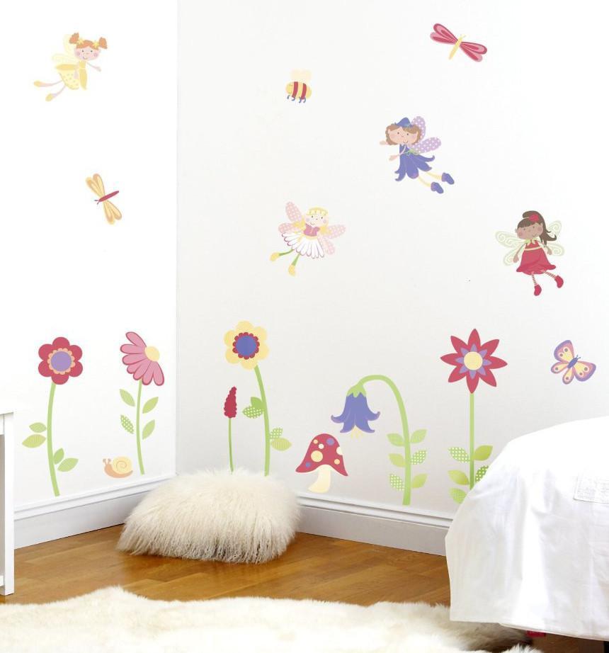 Wall Decals For Girl Bedroom  Fairy Garden Wall Decals Girls Bedroom Decor – Fun Rooms