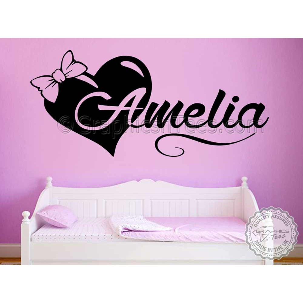 Wall Decals For Girl Bedroom  Girls Personalised Bedroom Nursery Wall Sticker Decor