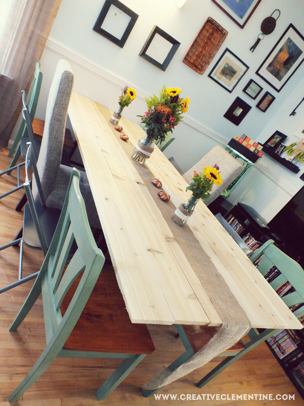 Wall Mounted Kitchen Tables  DIY Wall Mounted Holiday Dining Table Creative Clementine