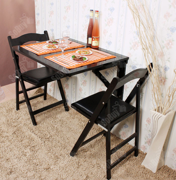 Wall Mounted Kitchen Tables  Wall mounted Drop leaf Table Solid Wood Folding Dining