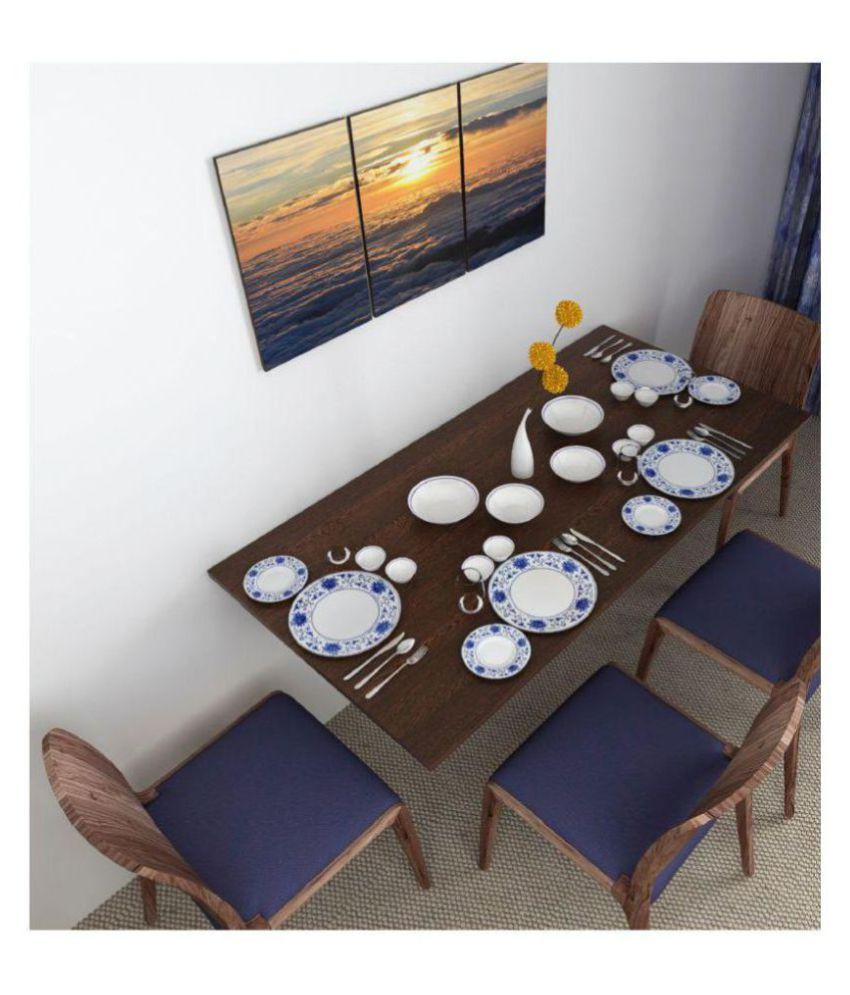 Wall Mounted Kitchen Tables  BLUEWUD Particle Board Hemming Wall Mounted Folding Dining