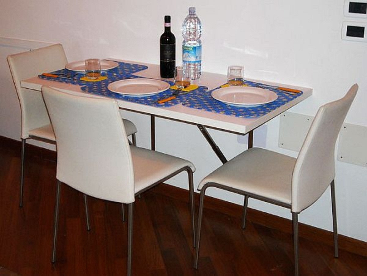 Wall Mounted Kitchen Tables  20 benefits of Folding kitchen table wall mounted