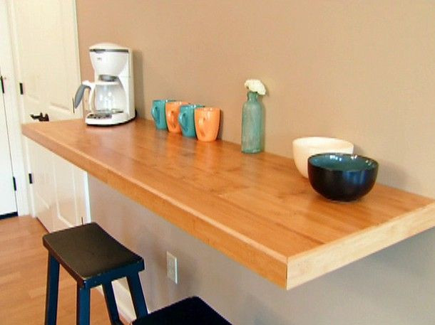Wall Mounted Kitchen Tables  Making Your Own Wall Mounted Kitchen Table