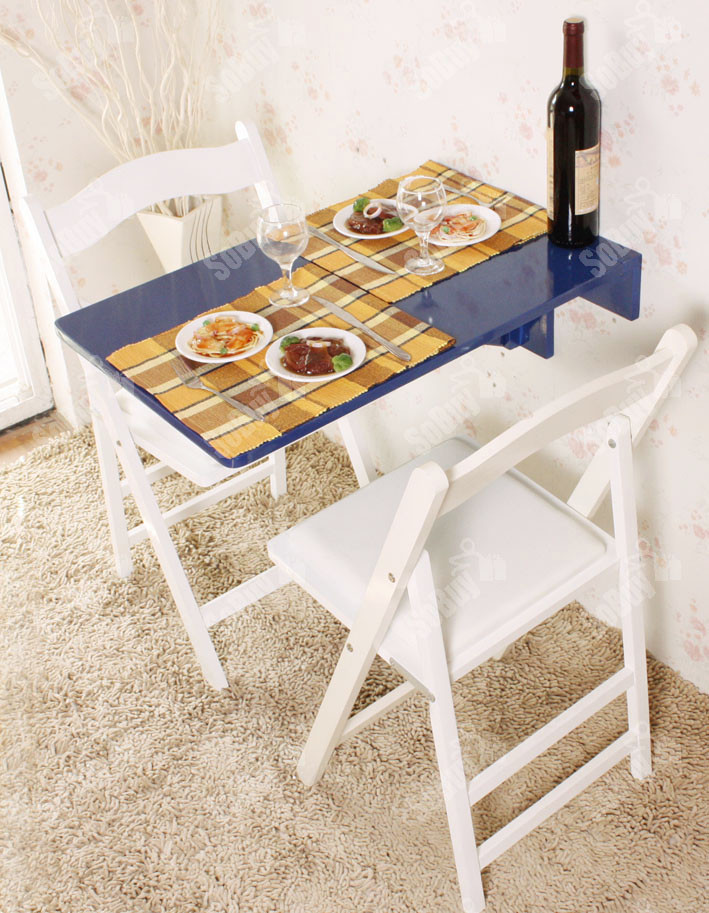 Wall Mounted Kitchen Tables  Wall mounted Drop leaf Table Folding Kitchen Dining Table