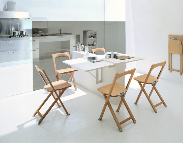Wall Mounted Kitchen Tables  Calligaris Quadro Wall mounted drop leaf table Modern