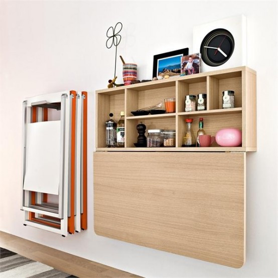 Wall Mounted Kitchen Tables  Strategies for Stylish Storages