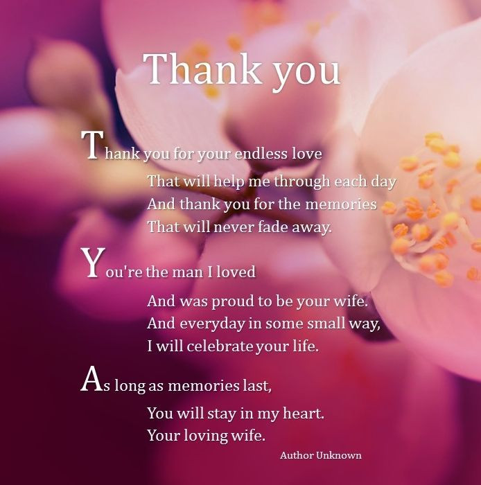 Wedding Anniversary After Death Of Spouse Quotes  Thank you for your endless love Your loving Wife