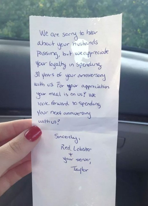Wedding Anniversary After Death Of Spouse Quotes  After Celebrating 31 Anniversaries at a Red Lobster a