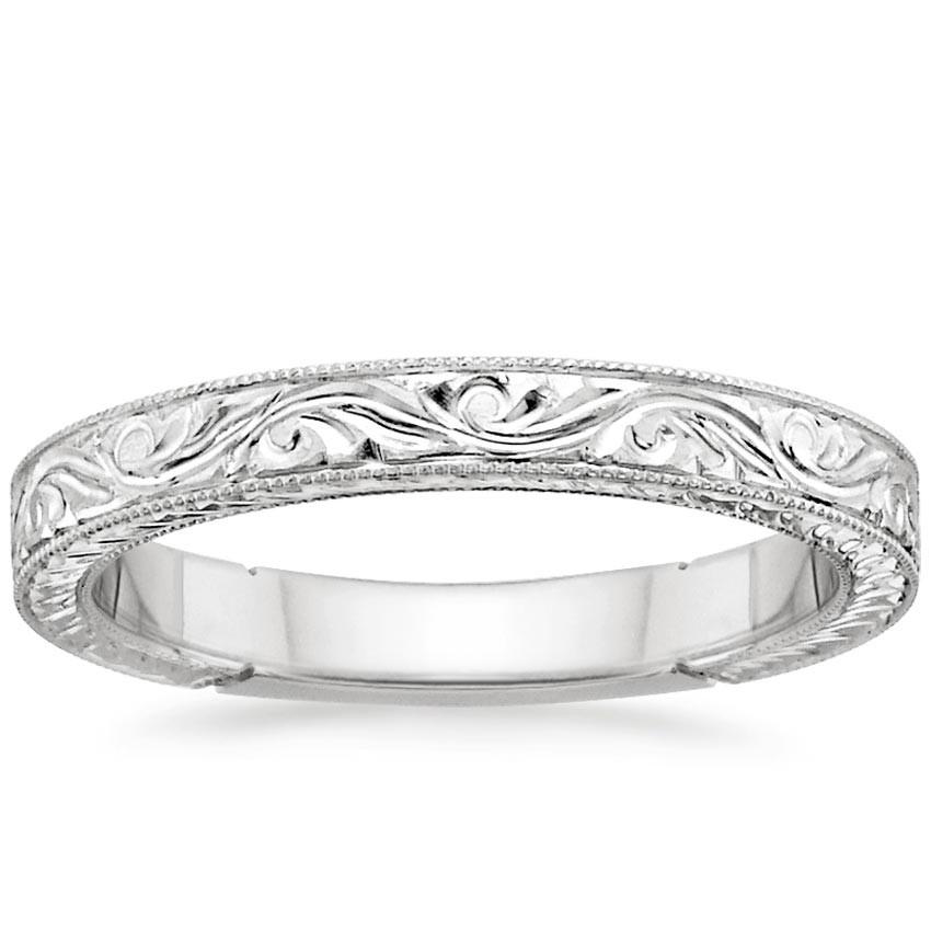 Wedding Band Engravings  Hand Engraved Ring Laurel