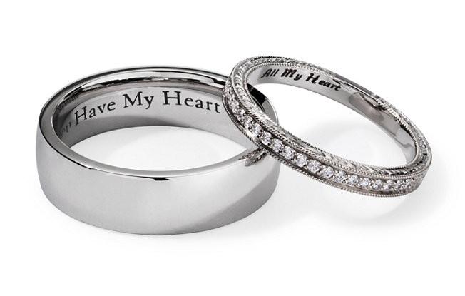 Wedding Band Engravings  15 Wedding Ring Engraving Ideas