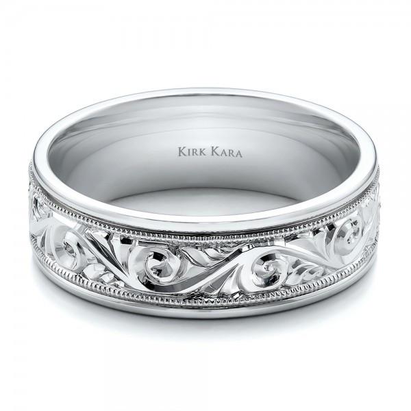 Wedding Band Engravings  Hand Engraved Men s Wedding Band Kirk Kara