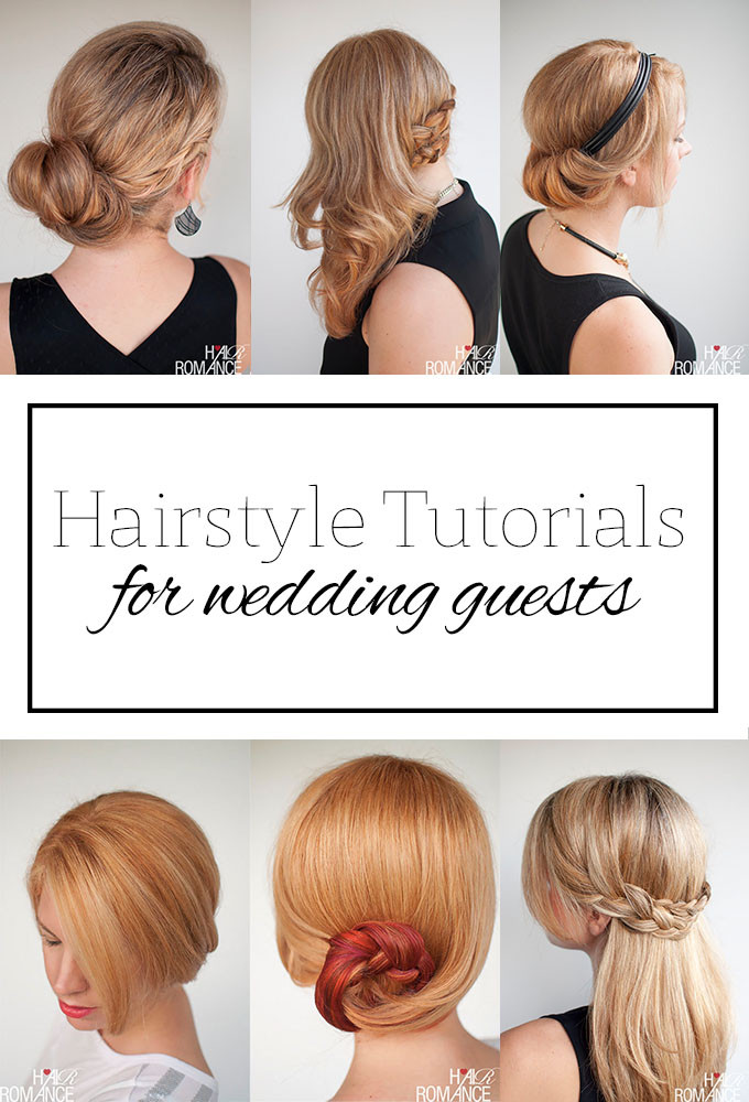 Wedding Guest Hairstyles DIY  Top 5 hairstyle tutorials for wedding guests Hair Romance