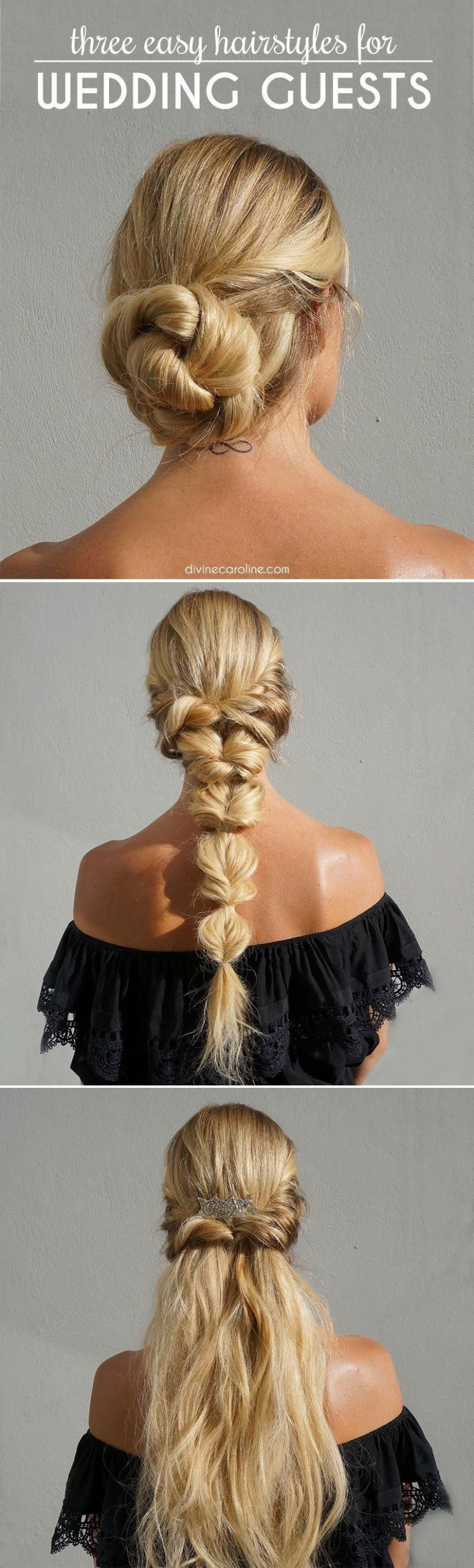 Wedding Guest Hairstyles DIY  3 Easy Hairstyles for Wedding Guests