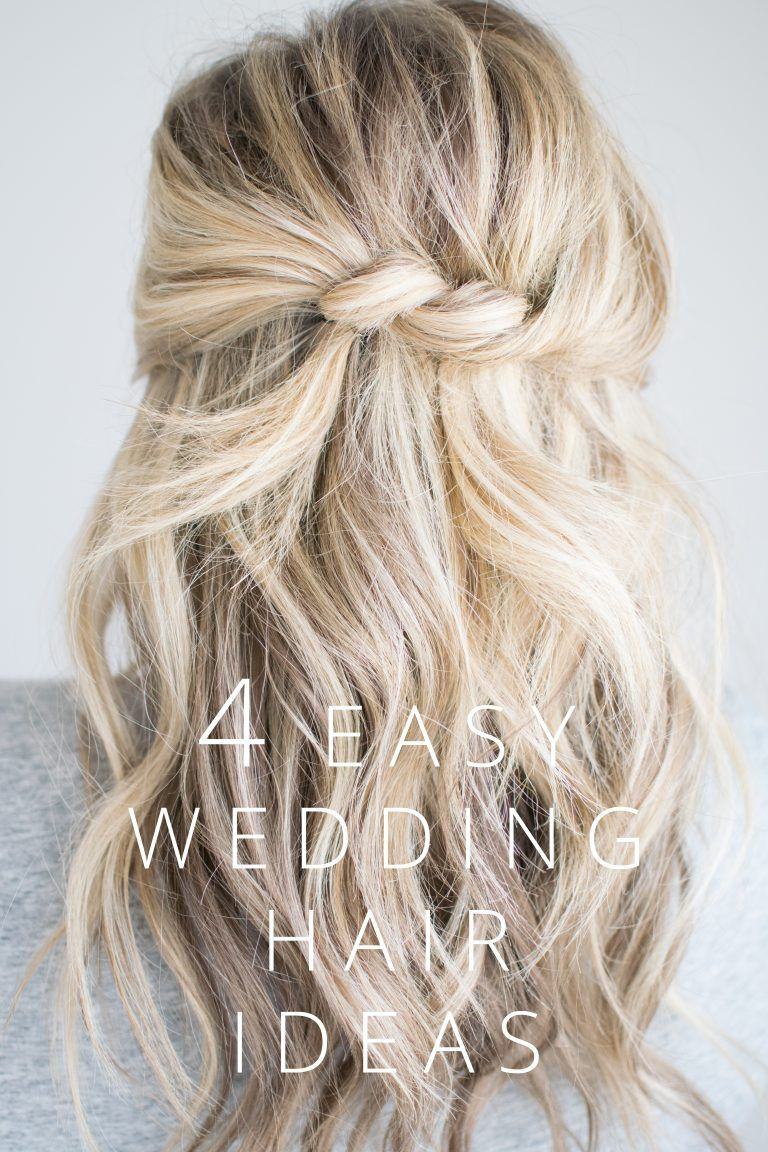 Wedding Guest Hairstyles DIY  cute twisted hairstyle for a half up do loose messy waves