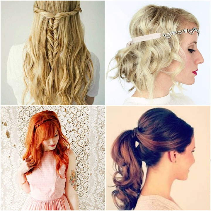 Wedding Guest Hairstyles DIY  12 Super Easy DIY Wedding Hairstyles crazyforus