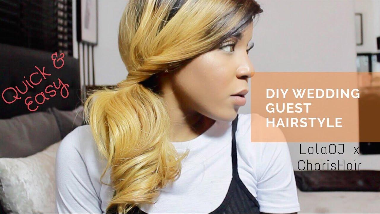 Wedding Guest Hairstyles DIY  Quick & Easy DIY Wedding guest hairstyle with
