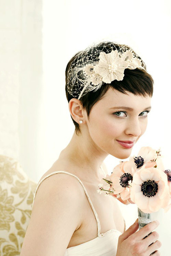 Wedding Hairstyles Brides  30 Short Wedding Hairstyles Which Look Hot SloDive