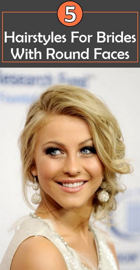 Wedding Hairstyles Round Face  Awesome Wedding Hairstyle for Round Face to Look Slim
