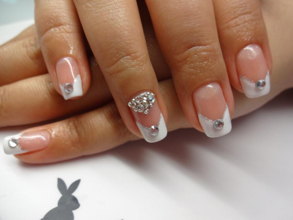 Wedding Nails Gel  Gel Mani Bling Bridal Nails – nailartexpress