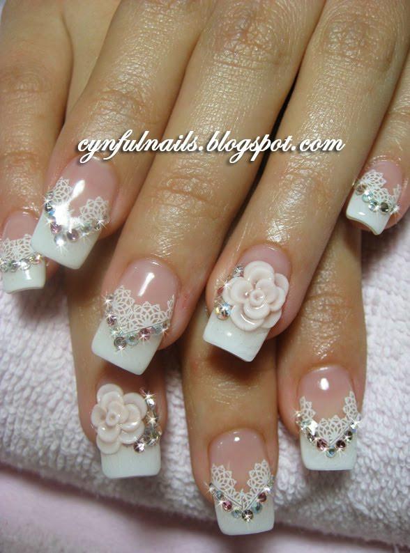 Wedding Nails Gel  Cynful Nails September 2010