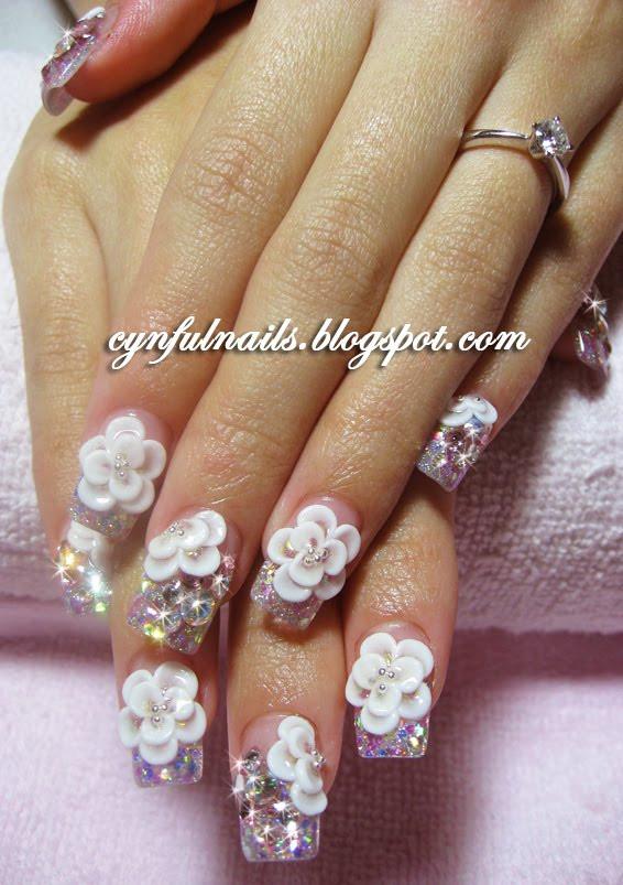 Wedding Nails Gel  Cynful Nails Bridal gel nails