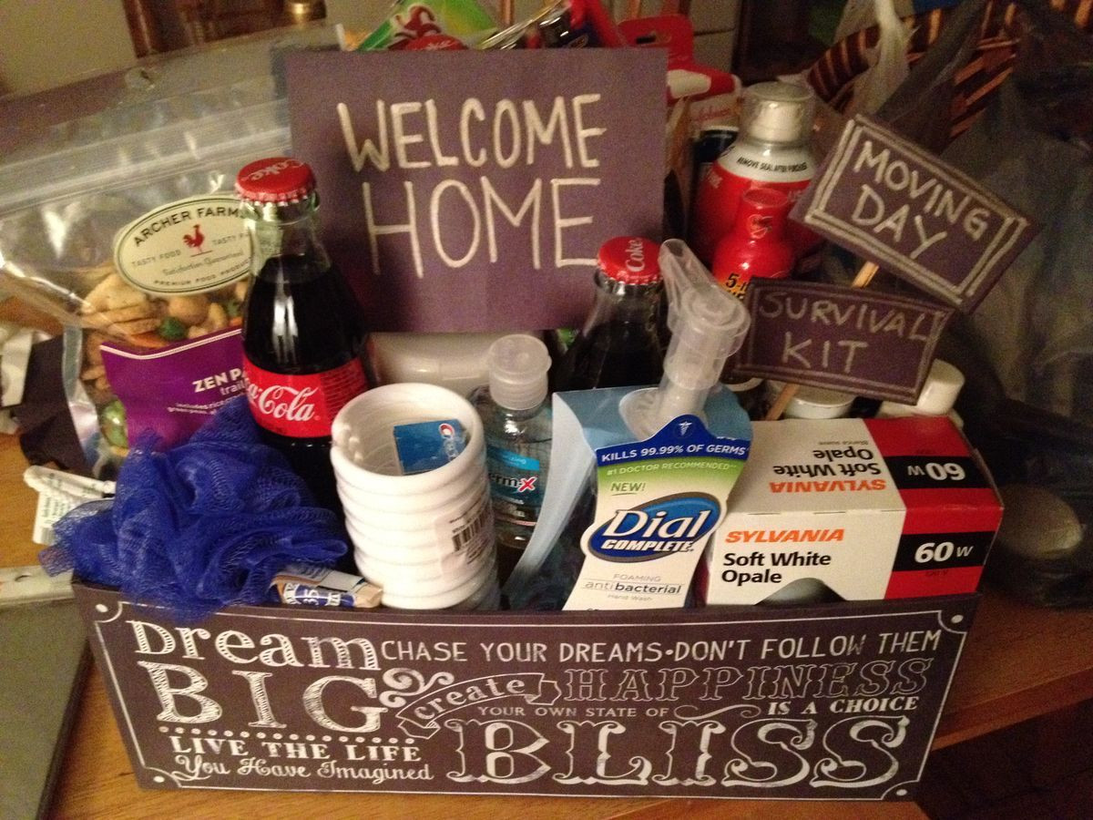 Welcome Gift Basket Ideas  Gift Basket Wel e Home New Home