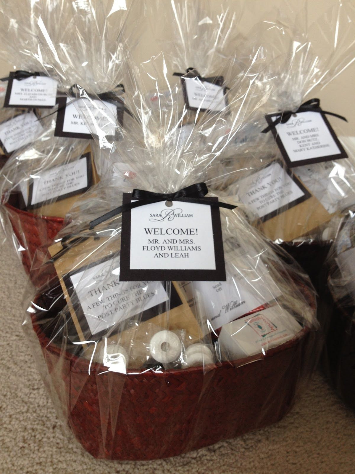 Welcome Gift Basket Ideas  Wel e Baskets Lucky Penny Events
