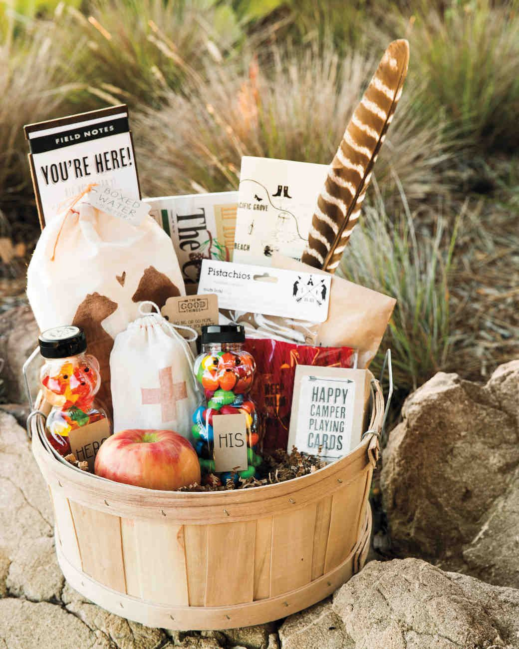Welcome Gift Basket Ideas  46 Wel e Bags from Real Weddings