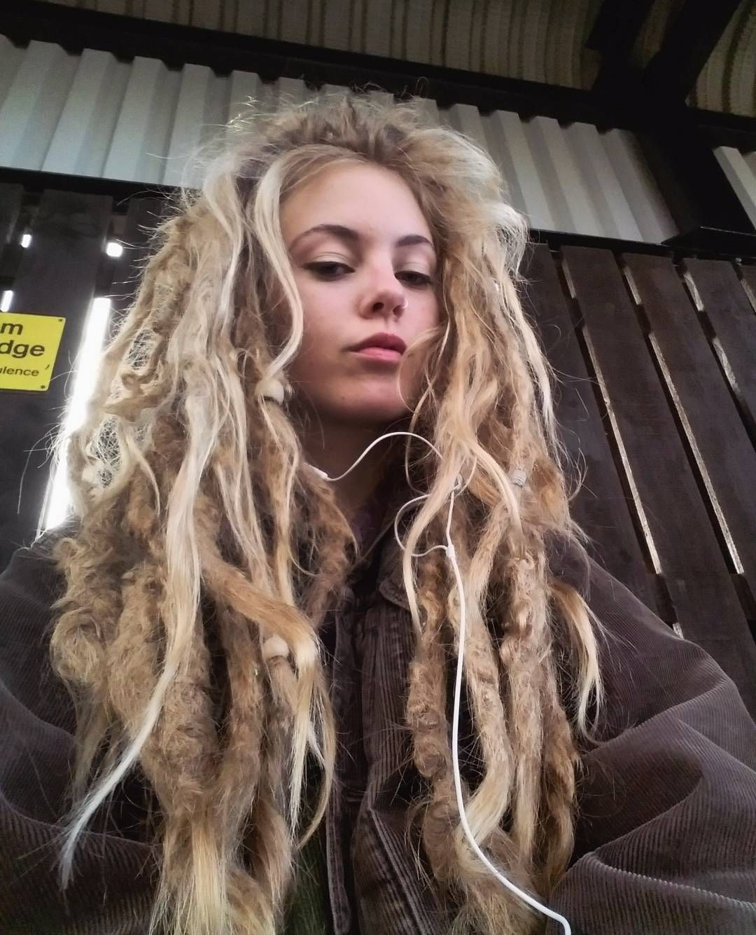 White Girl Dread Hairstyles  The dreads have a mind of their own