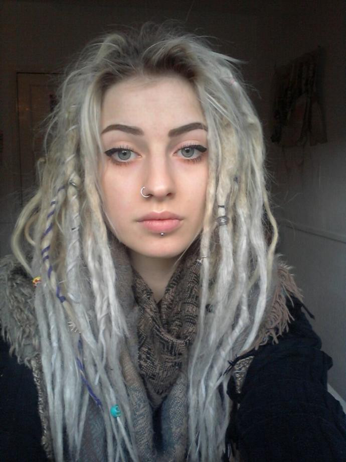 White Girl Dread Hairstyles  Do you find WHITE GIRLS with DREADS more attractive than