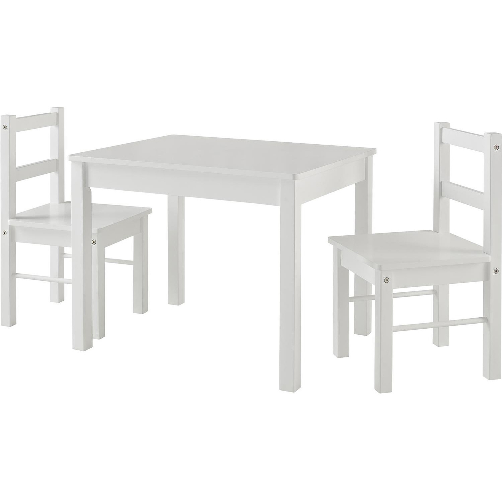 White Kids Chair  Ameriwood Home Hazel Kid s Table and Chairs Set White