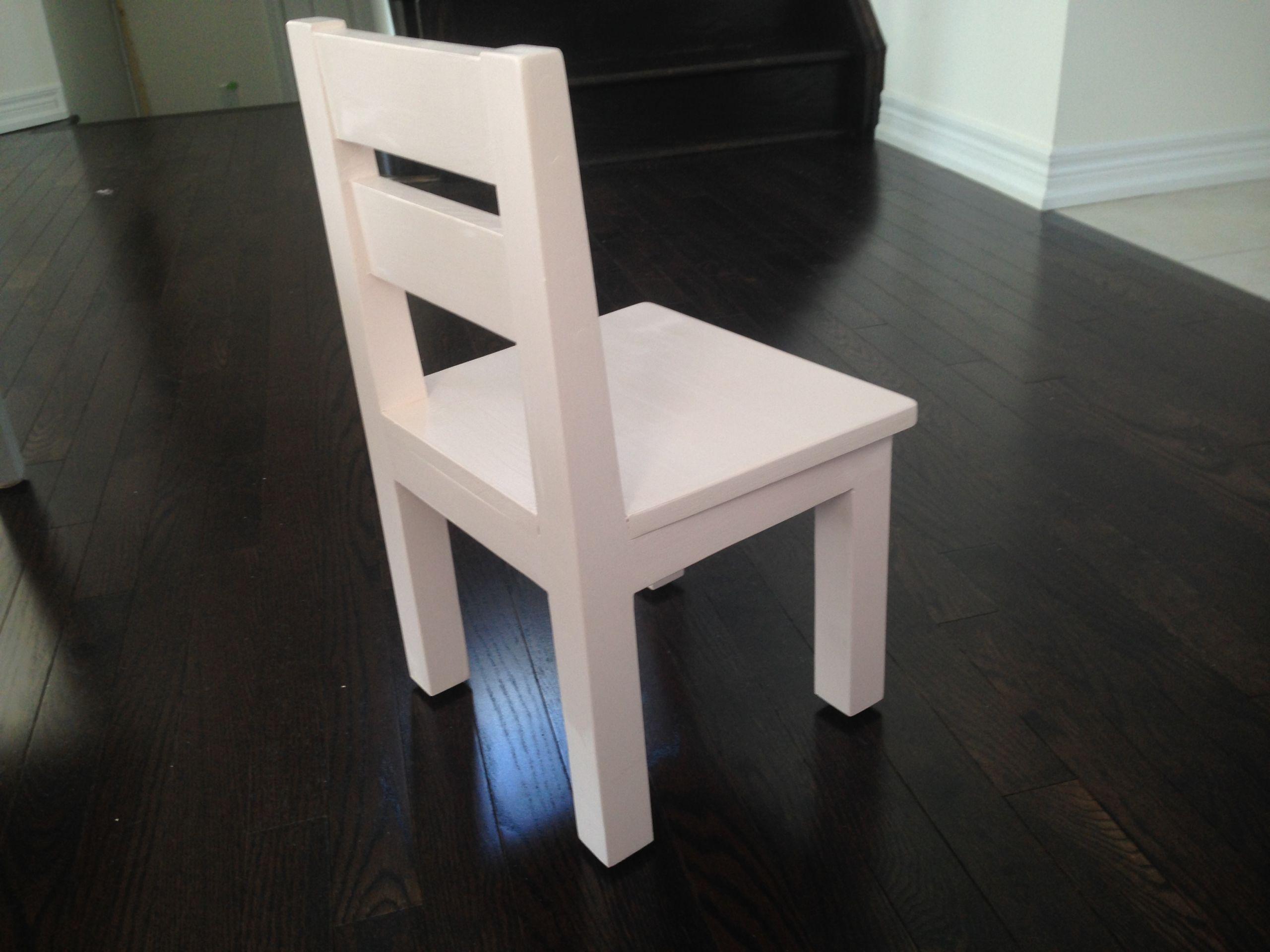 White Kids Chair  Ana White