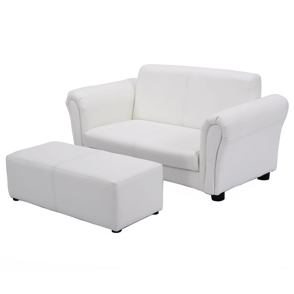 White Kids Chair  White Kids Sofa Armrest Chair Couch Lounge Children
