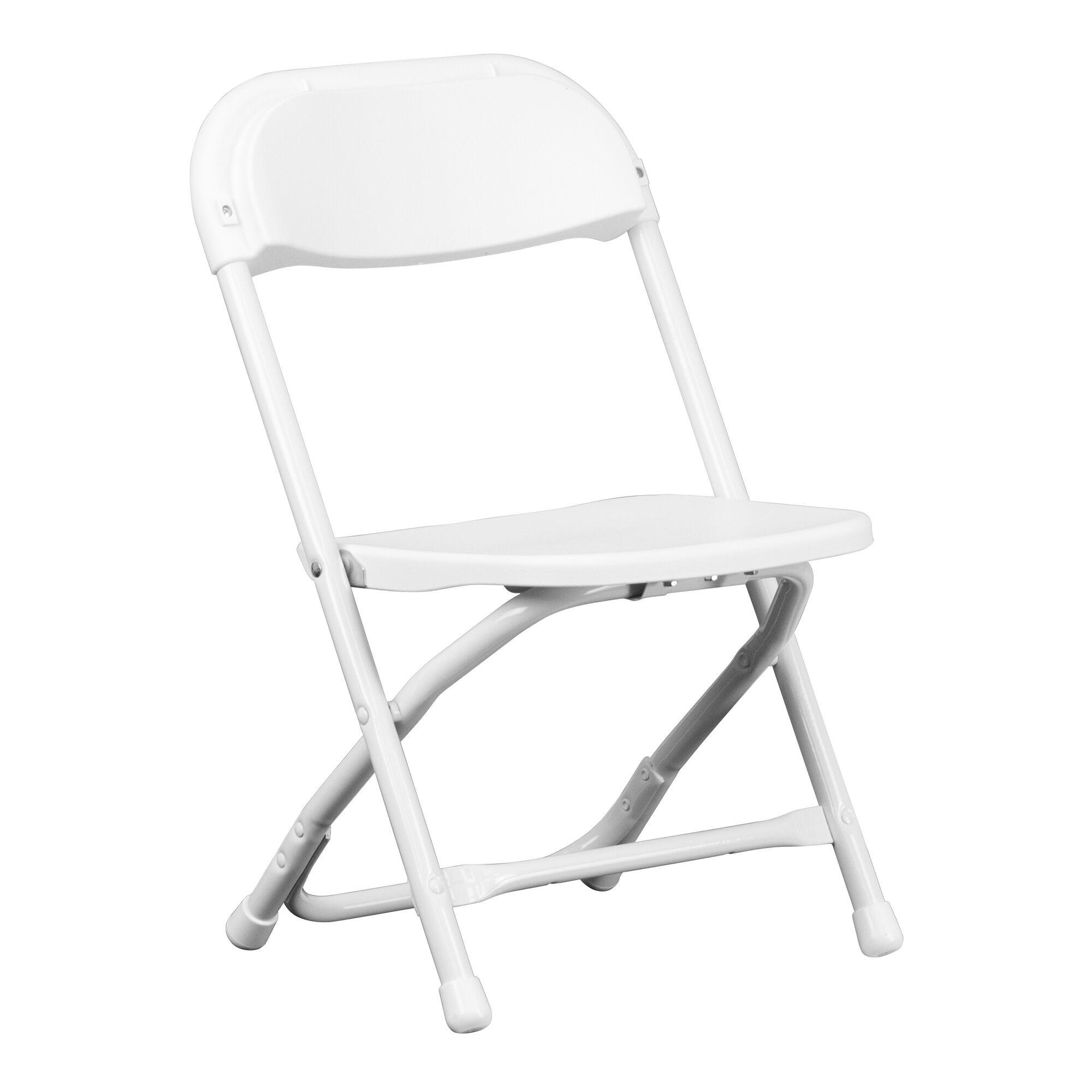 White Kids Chair  Kids White Folding Chair Y KID WH GG