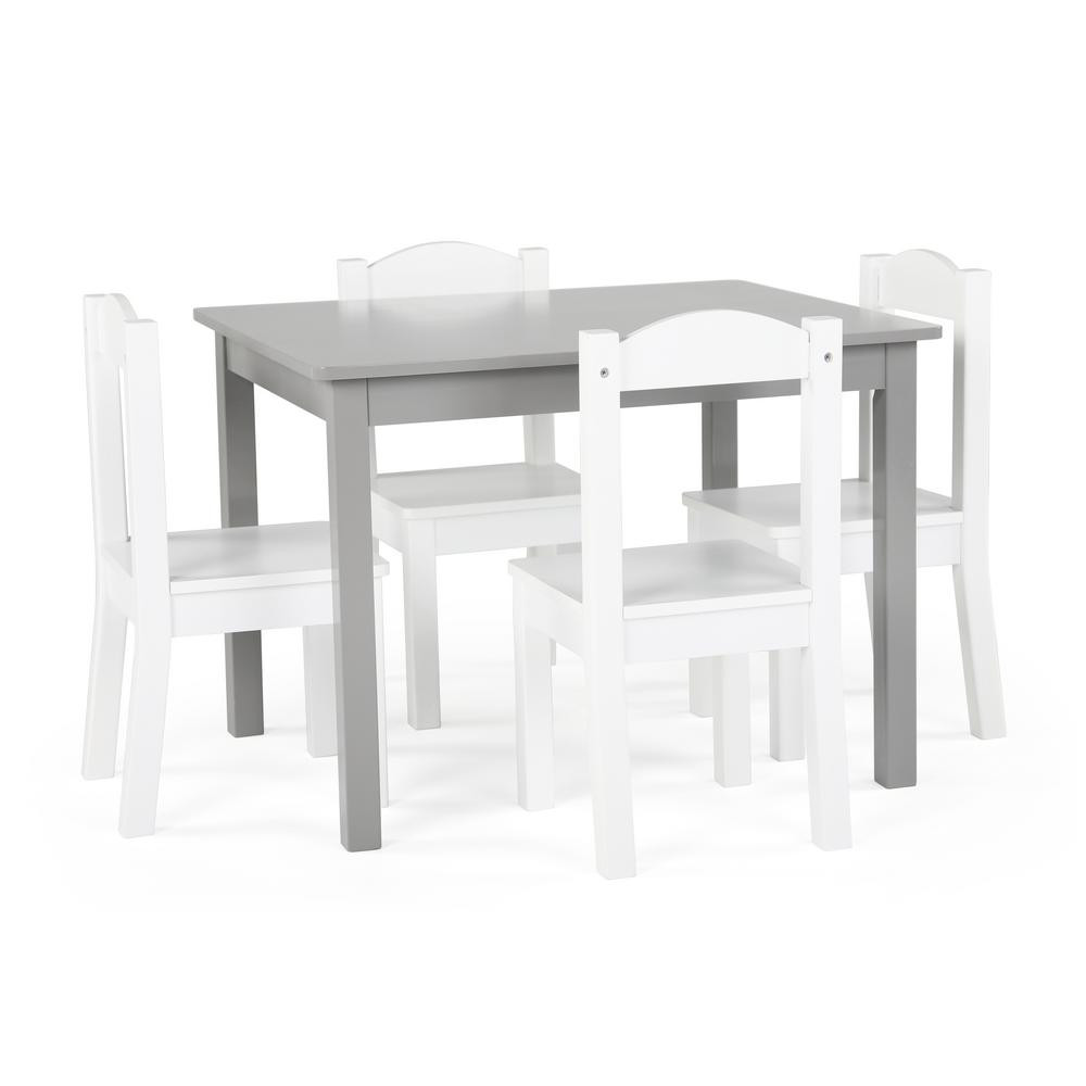 White Kids Chair  RiverRidge Kids 6 Piece White Children s Table and Chair