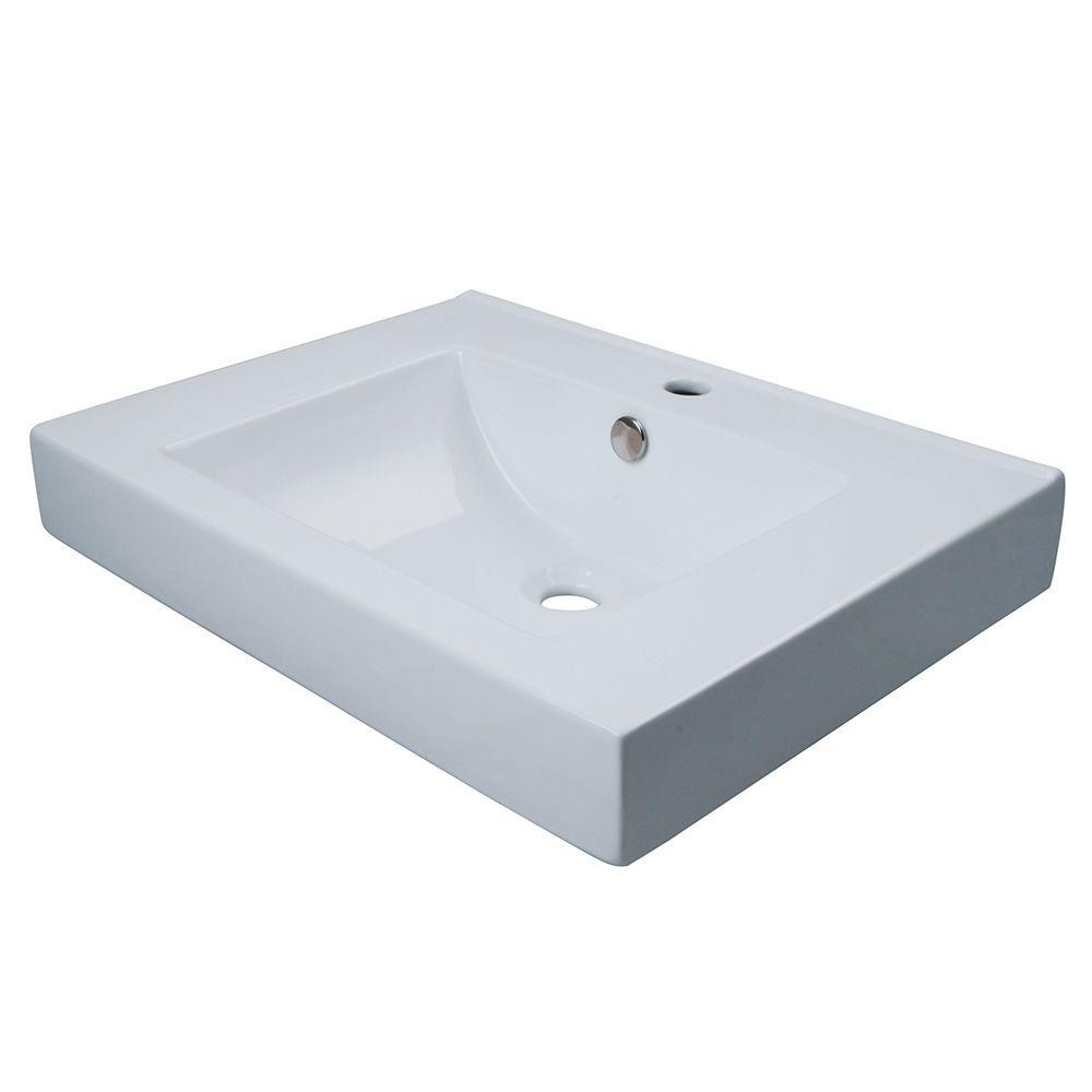 White Kitchen Sink Home Depot  Kingston Brass Wall Mount or Countertop Bathroom Sink in