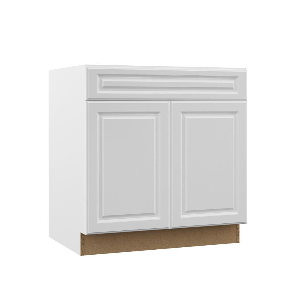 White Kitchen Sink Home Depot  Hampton Bay Designer Series Elgin Assembled 33x34 5x23 75