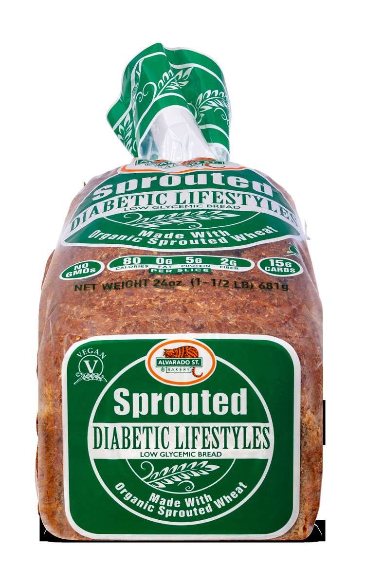 Whole Grain Bread Diabetes  Sprouted Diabetic Lifestyles Low Glycemic Bread Alvarado