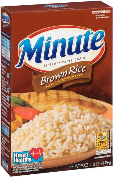 Whole Grain Brown Rice  Minute Instant Whole Grain Brown Rice