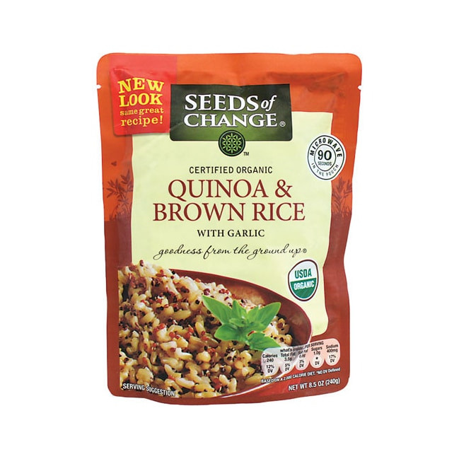 Whole Grain Brown Rice  Seeds of Change Quinoa and Whole Grain Brown Rice 8 5 oz